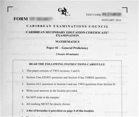 Csec Cxc Exam Past Papers February 2016