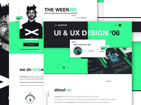 homepage design concepts rubrum digital agency website design concept by robert