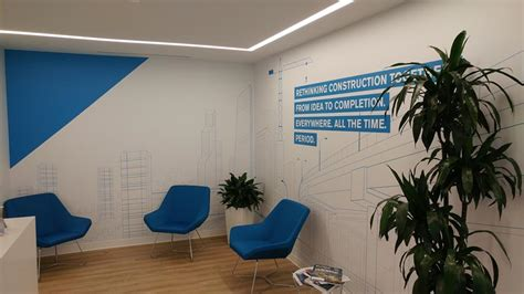 wall graphics  office branding creative
