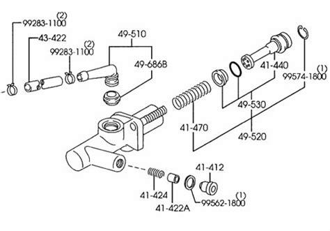 Seal Master Rem Usupra Cylinder Set Master Honda Ori mazda oem clutch master cylinder mazdaspeed protege