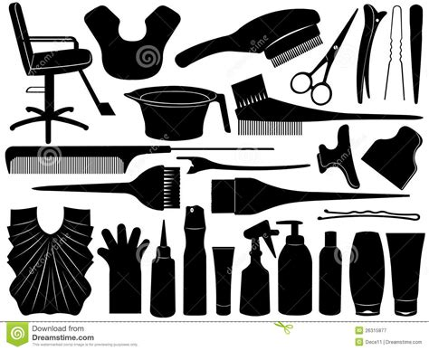 twist hairstyle tools clipart no background equipment for hair dying royalty free stock photography
