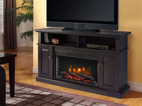 Rustic Electric Fireplace Delaney Electric Fireplace Media Console In Rustic Brown 370 167 200