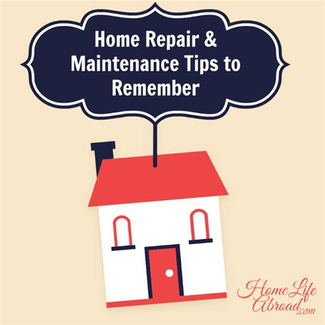home repair and maintenance tips to remember