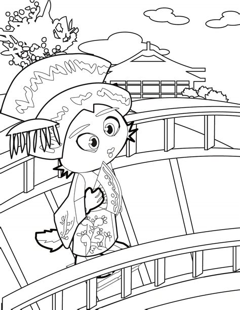 Anime Geisha Coloring Pages Coloring Pages Geisha Coloring Pages