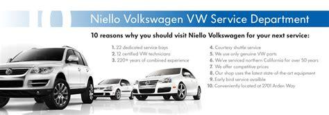 Volkswagen Service Department by Niello Volkswagen Service Sacramento Volkswagen Dealer
