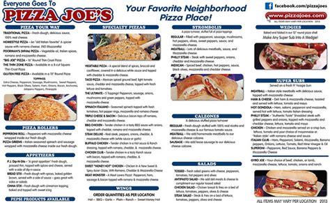pizza joes generic menu  flickr photo sharing