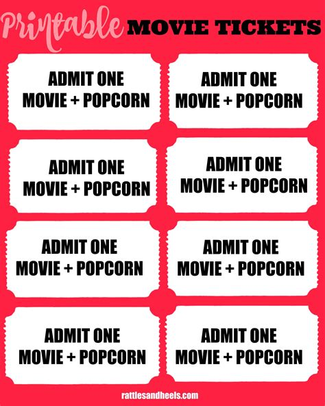 printable movie night tickets family movie night with printable movie tickets giveaway