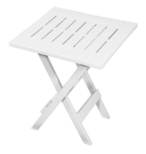 Small Folding Patio Side Table by Gracious Living Folding Side Table White Outdoor Living