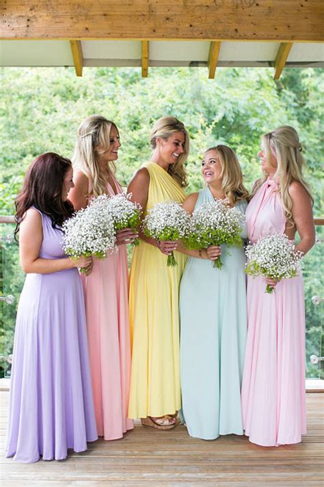 pastel bridesmaid dresses wedding ideas by colour chwv