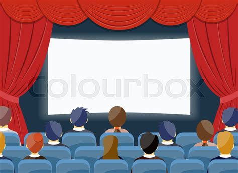 cinema   theater empty stock vector