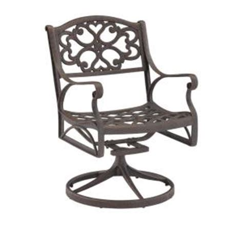 home styles biscayne bronze swivel patio dining chair 5555