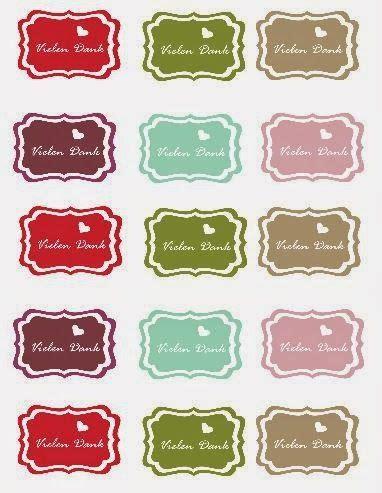 Sticker Drucken Stanzen by Vielen Dank Freebie Etiketten