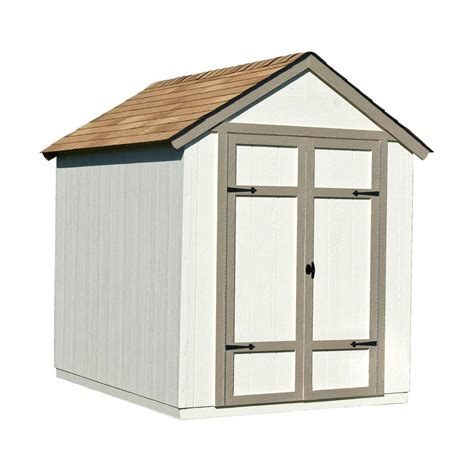 handy home products sherwood  ft   ft wood shed kit