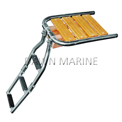 folding boat platform boat teak swim platform with folding ladder dawn marine