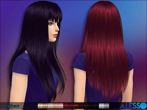 sims 4 longest hair anto heartbeat hair
