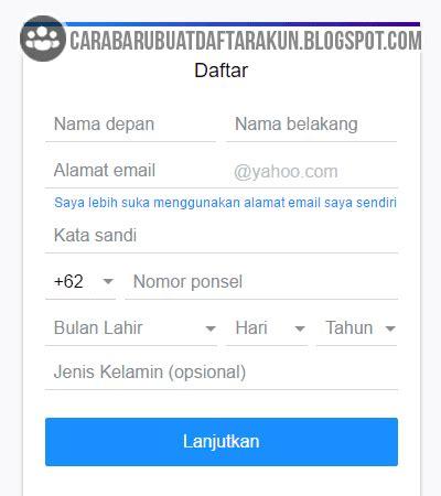 membuat alamat email lewat yahoo cara buat akun yahoo mail baru lewat laptop atau pc komputer