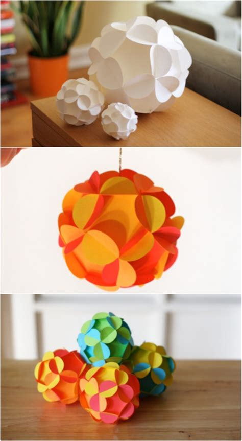 How To Make Paper Ornaments - 20 ideas on how to make ornaments from paper