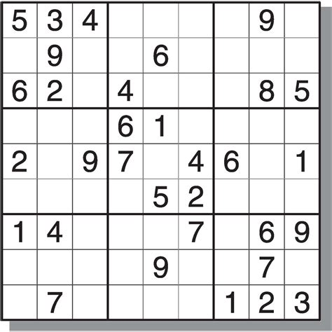 printable intermediate sudoku puzzles 8 best images of printable sudoku with answers free