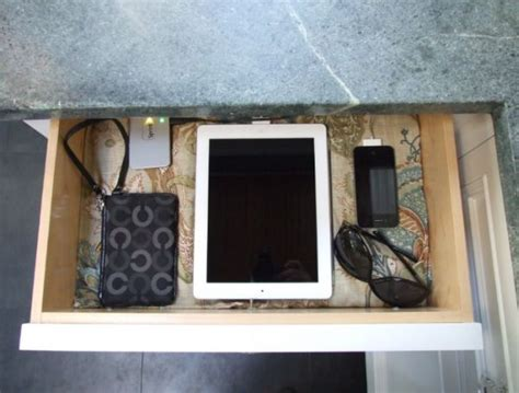 Charging Station With Drawer by Charging Stations Without A Tangled Mess Of Cords