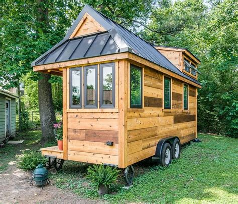design your own tiny house with wood material look natural the cedar mountain tiny house combines rustic and modern