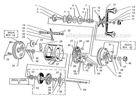abu garcia reel parts diagram abu garcia 4600 c parts list and diagram 89 0