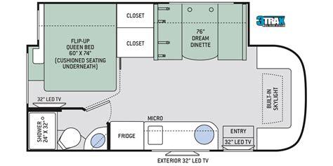 24 Foot Motorhome Floor Plans by 24 Foot Motorhome Floor Plans Gallery Home Fixtures