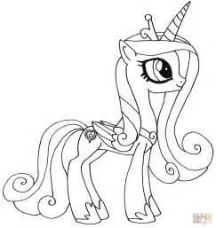my pony coloring pages princess cadence and shining armor prinses candance kleurplaat gratis kleurplaten printen