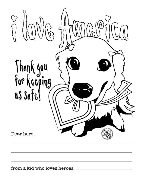 thank you military coloring page coloring pages operation write home