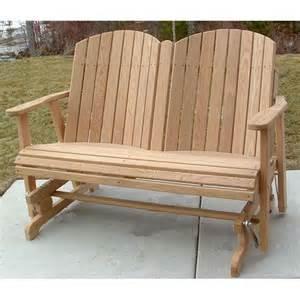 Amish outdoor furniture barrel back 4ft outdoor glider item aof 012