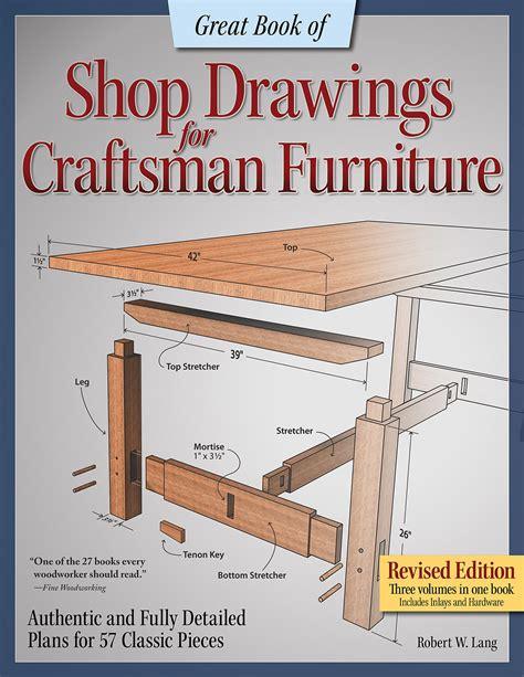 great book  shop drawings  craftsman furniture book