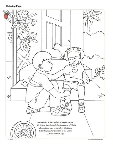 lds coloring pages repentance happy clean living primary 2 lesson 40