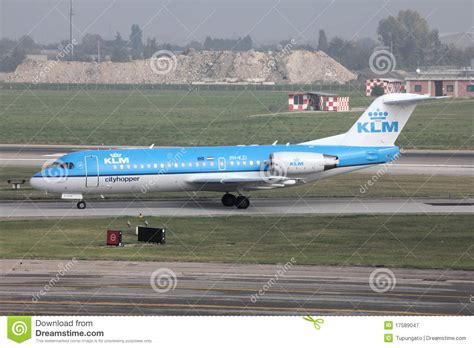 klm air filters klm fokker 70 aircraft editorial photography image of