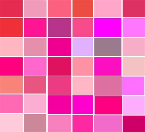 shades of list image result for http trends wp content uploads 2011 08 shades of pink shade