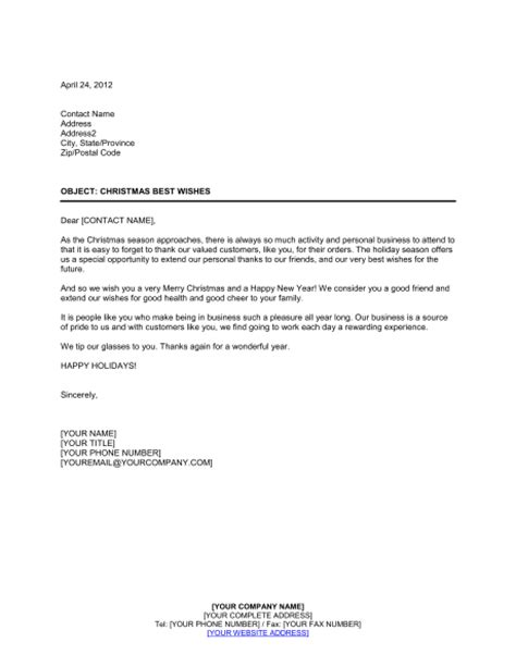 Valued Customer Letter Exle Season Thank You To Valued Customers Template Sle Form Biztree