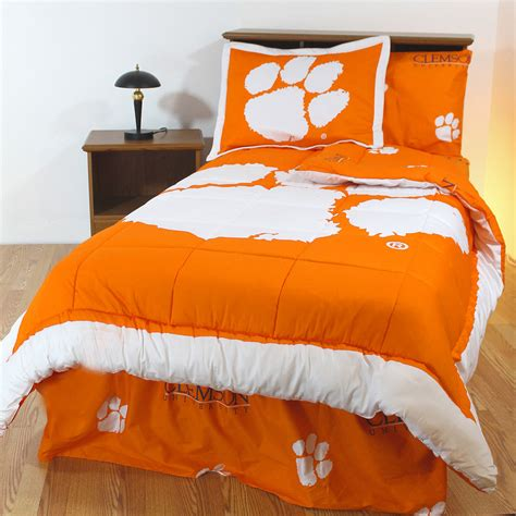 clemson bedding clemson tigers bed set cotton comforter sheets sham
