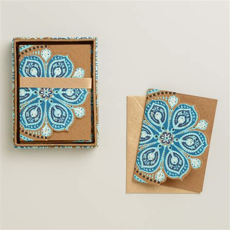 Handmade Notecards - nomad tiles handmade notecards set of 8 world market