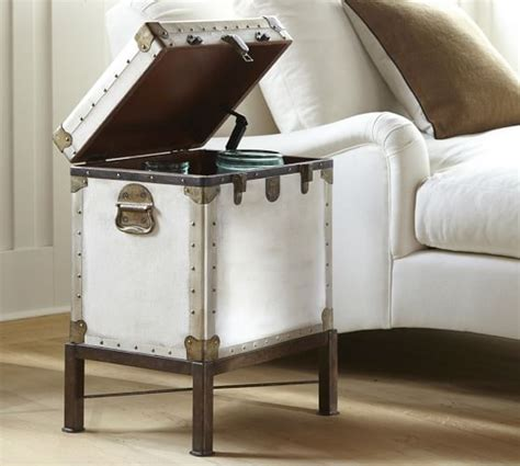 Trunk Side Table Ludlow Trunk Side Table Pottery Barn