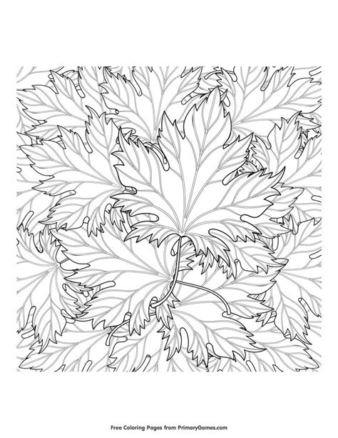 leaves coloring pages for adults 176 best coloring pages images on pinterest fall