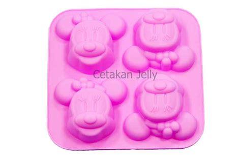 cetakan silikon kue puding minie mouse 4 cavity cetakan