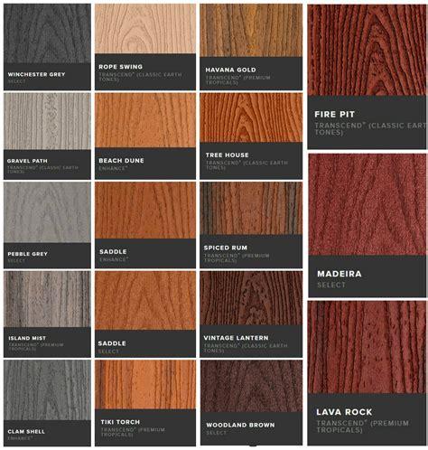 trex transcend colors trex deck builders