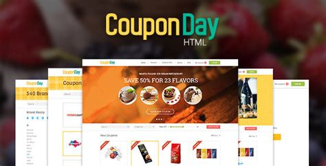 themeforest coupon theme couponday clean and premium coupon template by