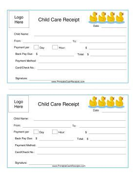babysitting receipt template the world s catalog of ideas