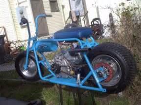 doodle bug mini bike build custom blue minibike motorcycle