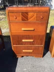 antique waterfall highboy 4 drawer wooden dresser ebay