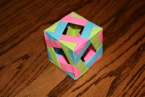 Simple Origami Cube - simple origami cube by mugglehater on deviantart