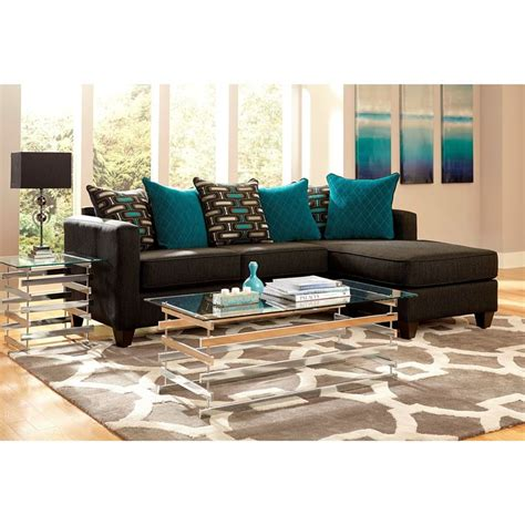 chenille fabric sectional sofa chaise lounge 2 charcoal black chenille reversible chaise