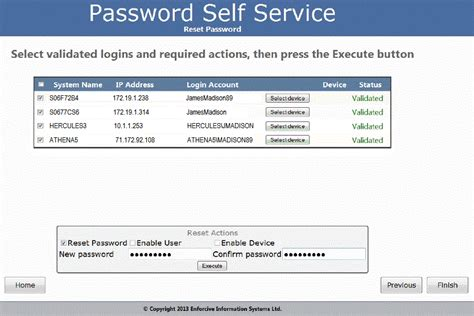 windows password reset self service password reset user self service web portal for ibm