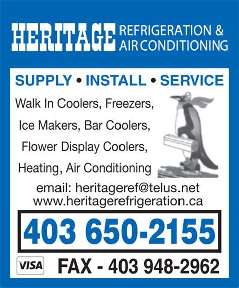 refrigeration heritage refrigeration calgary