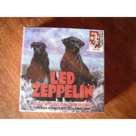 black led zeppelin black on the road by led zeppelin cd box with