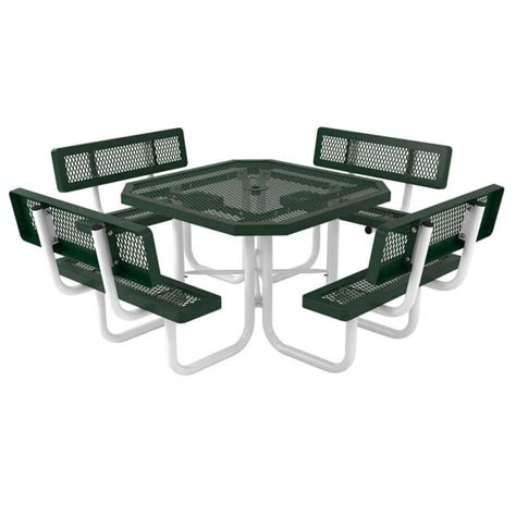 plastic coated picnic tables 46 quot octagonal thermoplastic coated expanded metal picnic